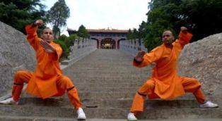 2 Kungfu teachers training in Fawang