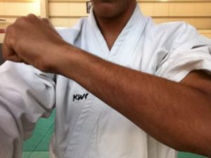 Gedan Barai, with Forearm