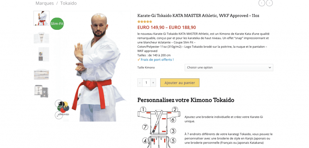 Karate-Gi Tokaido Athletic Master