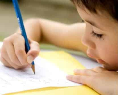 The child and the writing