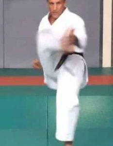Mikazuki Geri, Le coup de pied en croissant