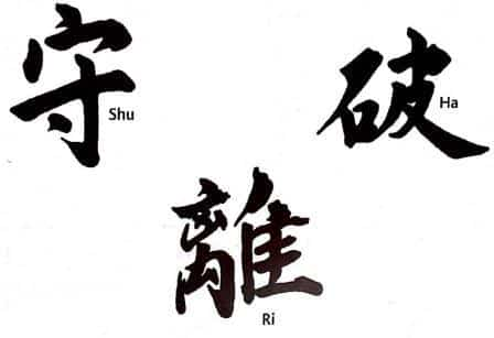 Shu-Ha-Ri: Three steps for a progression-understanding of Kata
