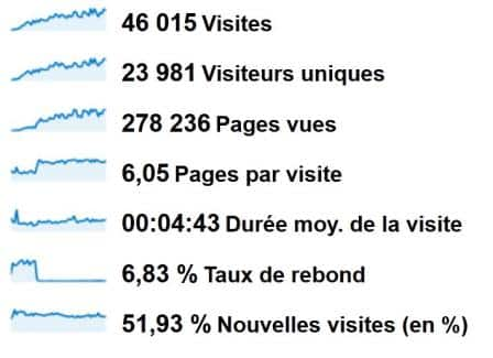 Statistiques Google Analytic 1-an Karate-Blog-net
